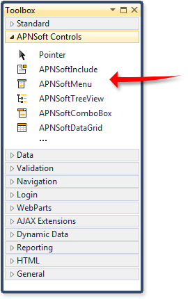 ASP NET Menu, ASP NET DataGrid, ASP NET TreeView, Web